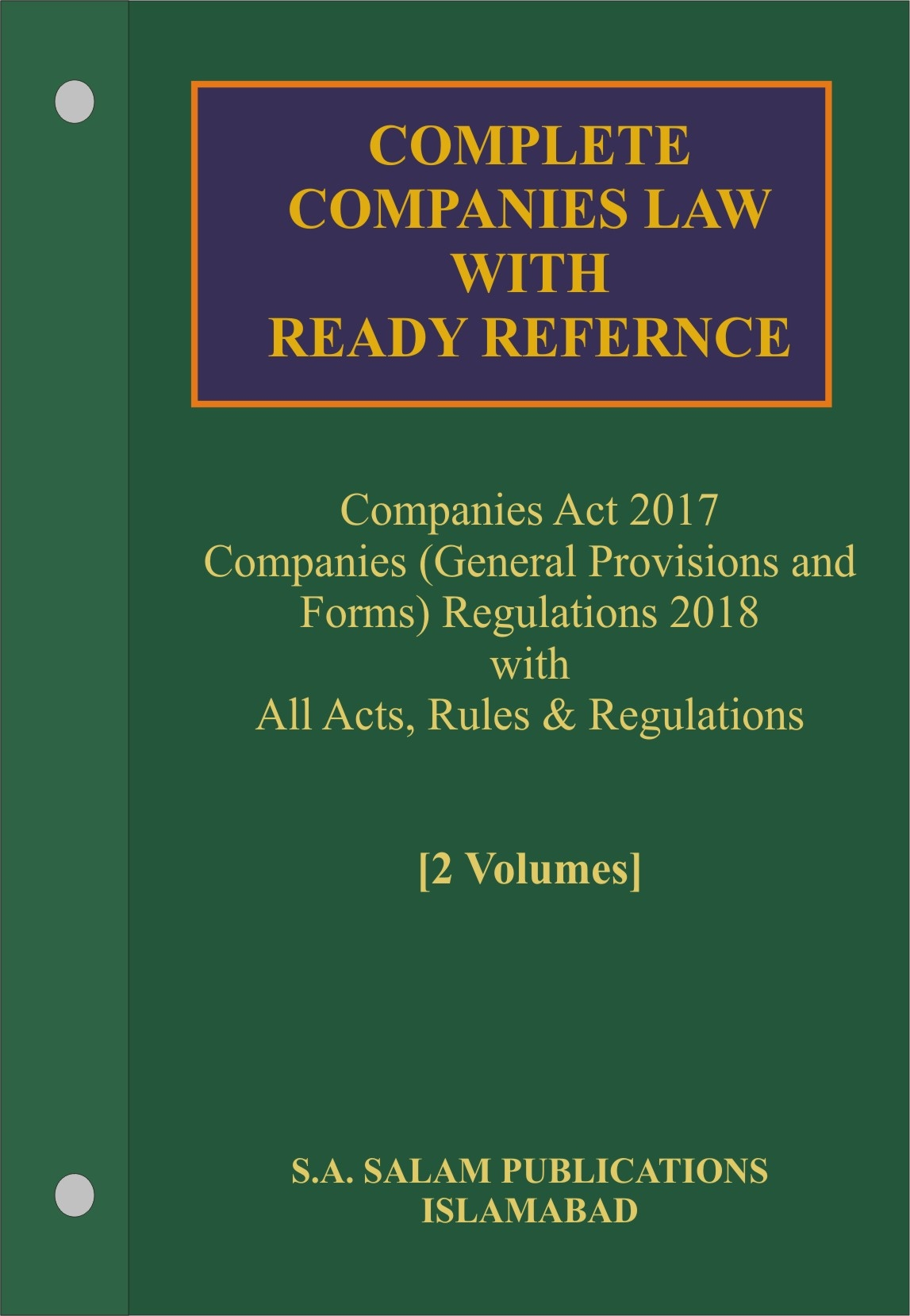 Picture of Complete COMPANIES LAW with Procedure & Ready Reference 2019