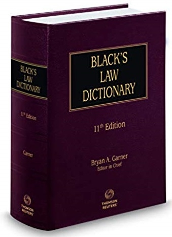 Picture of Black`s Law Dictionary (11th edition)