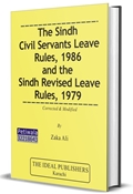 Picture of Sindh Civil Servants Leave Rules 1986 & the Sindh Revised Leave Rules 1979