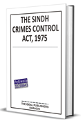 Picture of THE SINDH CRIMES CONTROL ACT, 1975