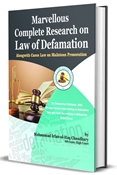Picture of Marvellous Complete Research on Law of Defamation