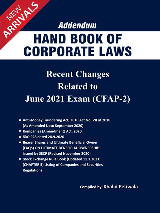 Addendum Handbook of Corporate Laws