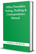 Picture of Office Procedure, Noting, Drafting & Correspondence Manual
