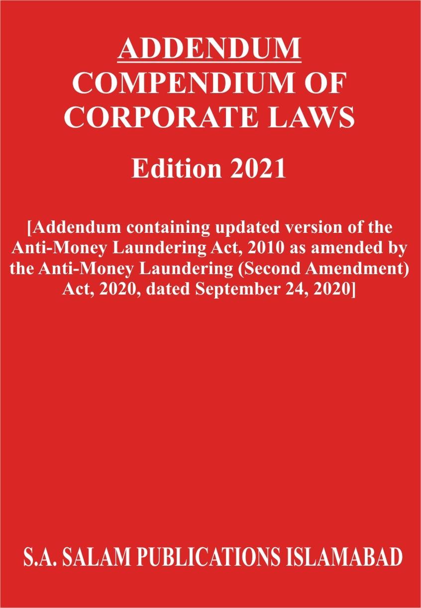 Addendum Compendium of Corporate Laws  2021