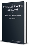 Picture of Federal Excise Act with Rules & Notifications